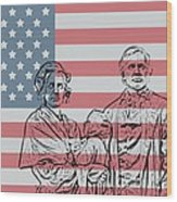 American Patriots Wood Print