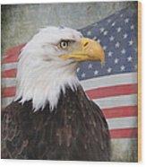 American Pride Wood Print by Angie Vogel
