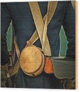 American Revolutionary Soldier Wood Print