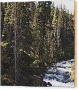American River Wood Print
