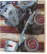 American Roller Skates Wood Print