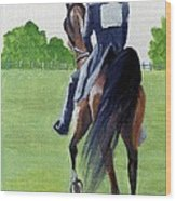 American Saddlebred Down The Road Wood Print