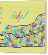 American Sign Language Baby Wood Print