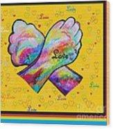 American Sign Language Love Wood Print