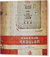 American Standard - Vintage Fuel Pump - Casper Wyoming Wood Print