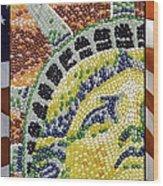American Statue Of Liberty Mosaic  Wood Print