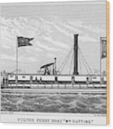 American Steamboat, 1827 Wood Print