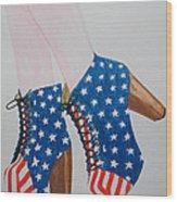 American Style Wood Print by Kim Lagerhem
