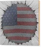 American Sunflower Power Wood Print