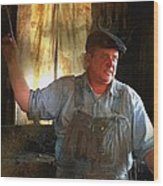 American Workingman Wood Print