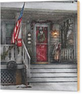 Americana - A Tribute To Rockwell - Westfield Nj Wood Print by Mike Savad