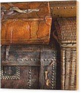 Americana - Emotional Baggage  Wood Print by Mike Savad