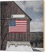 Americana Patriotic Barn Wood Print by Edward Fielding