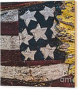 Americana - Stars And Stripes Wood Print by Dean Harte