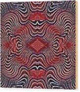 Americana Swirl Banner 2 Wood Print