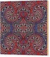 Americana Swirl Banner 3 Wood Print