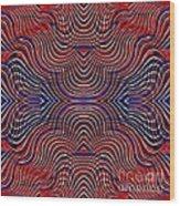 Americana Swirl Design 10 Wood Print