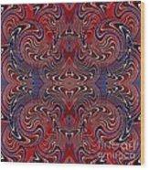 Americana Swirl Design 2 Wood Print