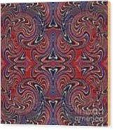 Americana Swirl Design 3 Wood Print