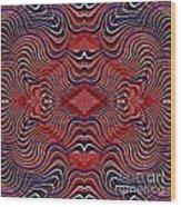 Americana Swirl Design 7 Wood Print
