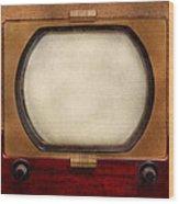 Americana - Tv - The Boob Tube Wood Print