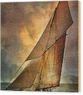 America's Cup  Wood Print by Andrzej Szczerski