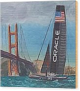 Americas Cup By The Golden Gate Wood Print
