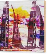 America's Cup Challenge Wood Print