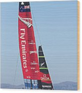 America's Cup Emirates Team New Zealand Wood Print