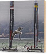 Americas Cup Oracle Team Usa V Artemis Racing Wood Print