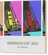 America's Cup Poster 3 Wood Print