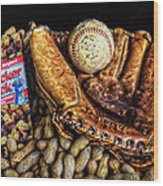 America's Pastime Wood Print by Ken Smith