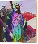 America's Statue Of Liberty Wood Print