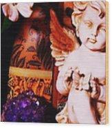 Amethyst Angel Wood Print