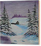 Amethyst Evening After Ross Wood Print by Barbara Griffin