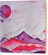 Amethyst Range Wood Print