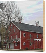 Amish Barn and Wind Mill - Allen County Indiana Wood Print