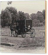 Amish Buggy Sept 2013 Wood Print