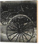 Amish Cart Wheels Grunge Wood Print