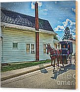 Amish Country Ride Wood Print