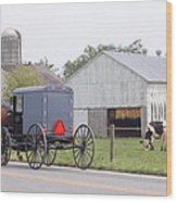 Amish Country Wood Print