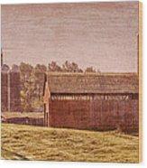 Amish Farm Wood Print