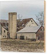 Amish Farm In Etheridge Tennessee Usa Wood Print by Kathy Clark
