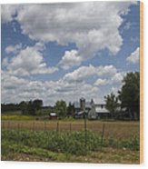 Amish Farm Landscape Wood Print