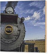 Amish Farmland And Brilliant Blue Sky Frame #475 Steam Engine - Strasburg Rr   02 Wood Print