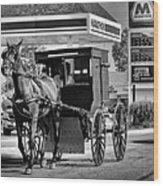 Amish Gas Wood Print