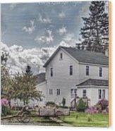 Amish Homestead Wood Print