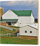 Amish Living Wood Print