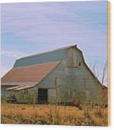 Amish Metal Barn Wood Print