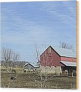 Amish Panorama Wood Print